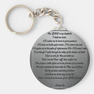 Psalm 23 - Steel Basic Round Button Keychain
