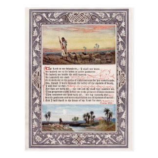 "Psalm 23 ""The Lord is My Shepherd"" Postcard"