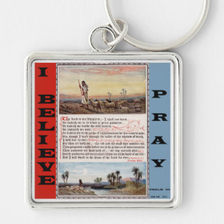 Psalm 23 The Lord is my Shepherd Prayer Keychain