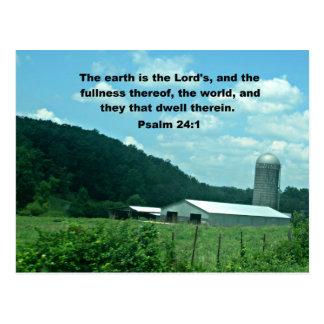 Psalm 24:1 postcard