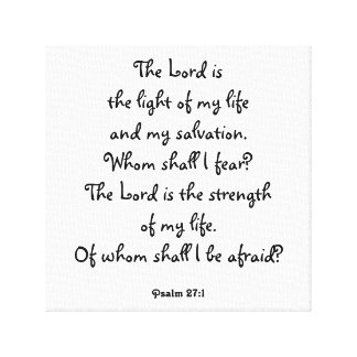 Psalm 27:1 canvas print