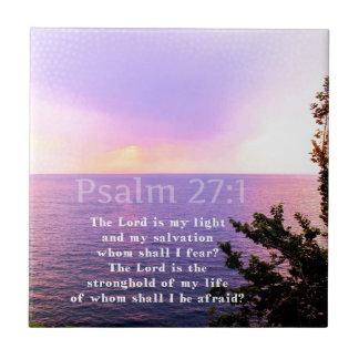 Psalm 27:1 INSPIRATIONAL BIBLE VERSE Ceramic Tiles