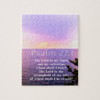 Psalm 27:1 INSPIRATIONAL BIBLE VERSE Jigsaw Puzzle