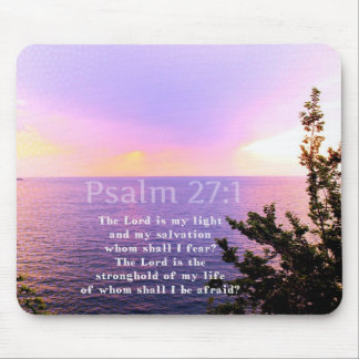 Psalm 27:1 INSPIRATIONAL BIBLE VERSE Mouse Pad