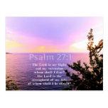 Psalm 27:1 INSPIRATIONAL BIBLE VERSE Post Cards