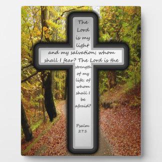 Psalm 27:1 plaque