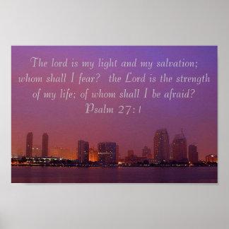 Psalm 27:1 Skyline poster