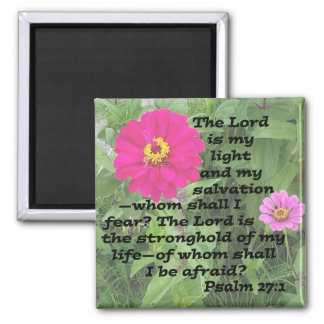 Psalm 27:1 square magnet