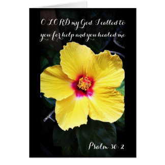 Psalm 30:2 Healing Prayer Card