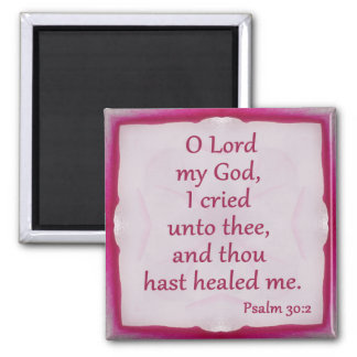 Psalm 30:2 Magnet