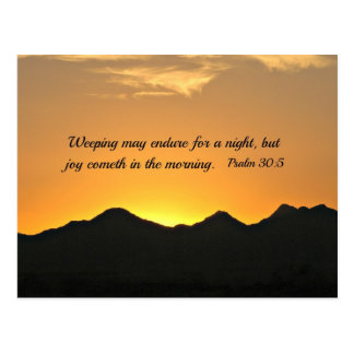 Psalm 30:5 Weeping may endure for a night... Postcard