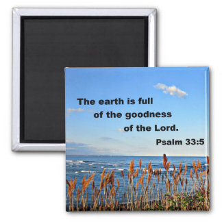 Psalm 33:5 magnet