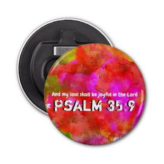 Psalm 35:9 bottle opener