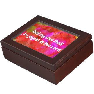 Psalm 35:9 keepsake box