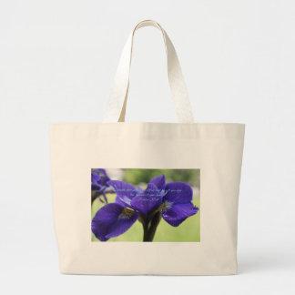 Psalm 37:4 Royal Blue Iris Large Tote Bag