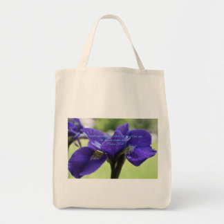 Psalm 37:4 Royal Blue Iris Tote Bag