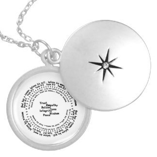 Psalm 37:5 silver plated necklace
