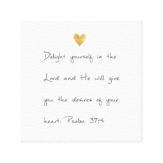 Psalm 37 canvas print