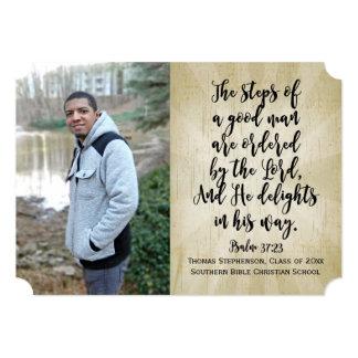 Psalm 37 Christian Bible Verse Photo Graduation Card