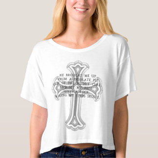 Psalm 40:02 Upon a Rock T-shirt