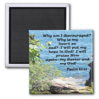 Psalm 42:11 square magnet