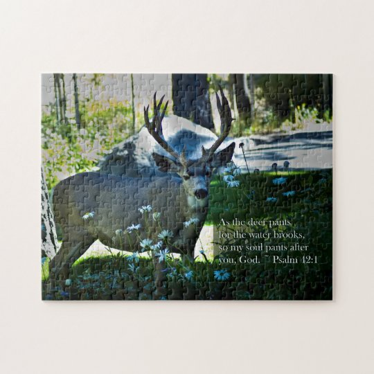 Psalm 42:1 and Deer Jigsaw Puzzle