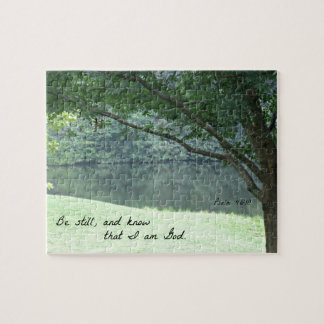 Psalm 46:10 Be still and know that I am God. Jigsaw Puzzle