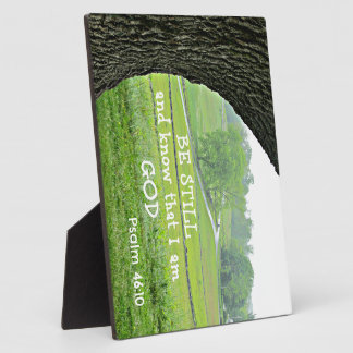 Psalm 46:10 Be still and know that I am God. Plaque