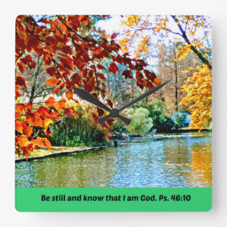 Psalm 46:10 Be still and know that I am God Square Wall Clock