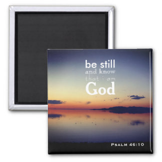 "Psalm 46:10 ""Be Still"" Great Salt Lake, Utah Magnet"