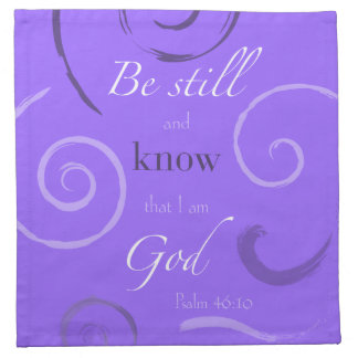 Psalm 46:10 Choose your own color! Customizable Napkin