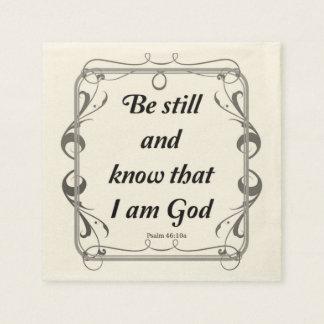 PSALM 46-10 DISPOSABLE NAPKINS