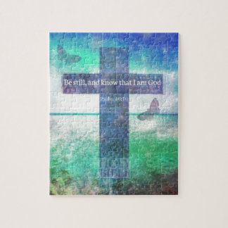 Psalm 46:10  Encouraging Bible Verse Jigsaw Puzzle