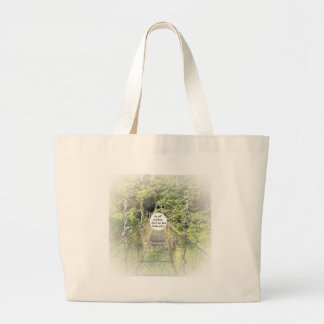 Psalm 46: 10 large tote bag