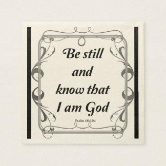PSALM 46-10 PAPER NAPKINS