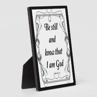PSALM 46-10 PLAQUE