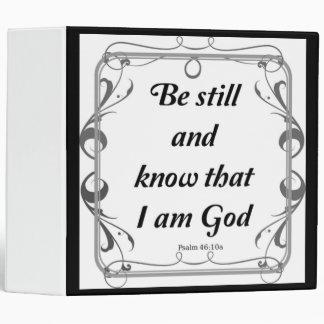 PSALM 46-10 VINYL BINDER