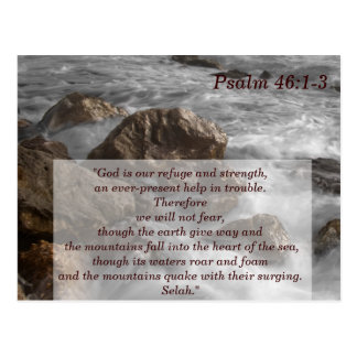 Psalm 46 1-3 Scripture Memory Card Postcard