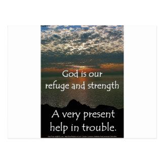 Psalm 46:1 - Beautiful Sunrise over Lake Michigan Postcard