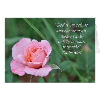 Psalm 46:1 Rose Encouragement card (Blank Inside)