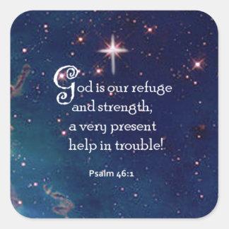 Psalm 46:1 square sticker