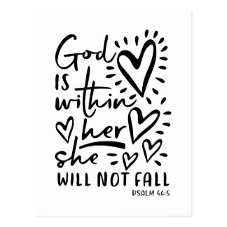 Psalm 46 Bible Verse Postcard