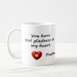 Psalm 4:7-8 coffee mug