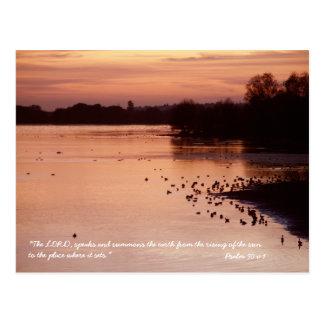 Psalm 50 v 1 postcard
