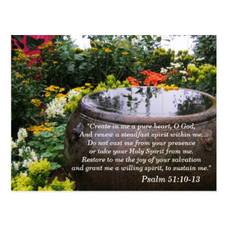 Psalm 51 10-13 Scripture Memory Card Postcard