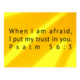 Psalm 56:3 Scripture Post Card