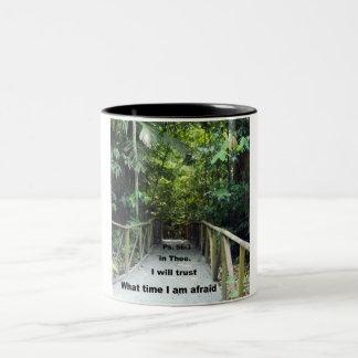 Psalm 56:3 Two-Tone coffee mug