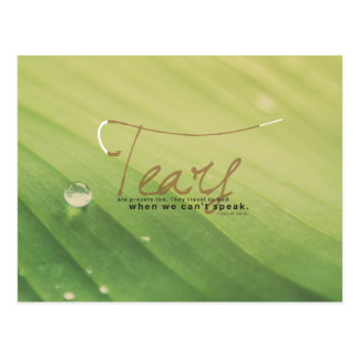 Psalm 56:8 - Tears are prayers too Postcard