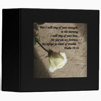Psalm 59:16 White Rose Binders