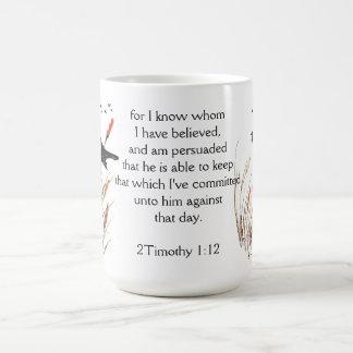 Psalm 65:5 Bible Scripture God I know Blackbird Coffee Mug